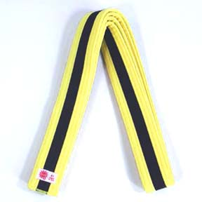 Color with Black Stripe Belts