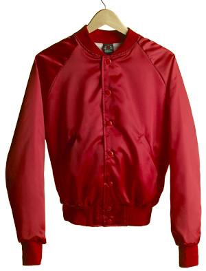 Satin Jacket (Stand-up Collar) - RED